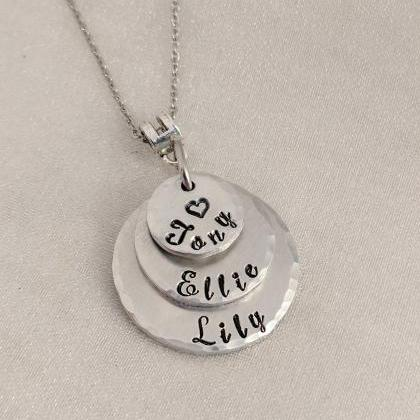 Personalized Mommy Necklace-Mother'..