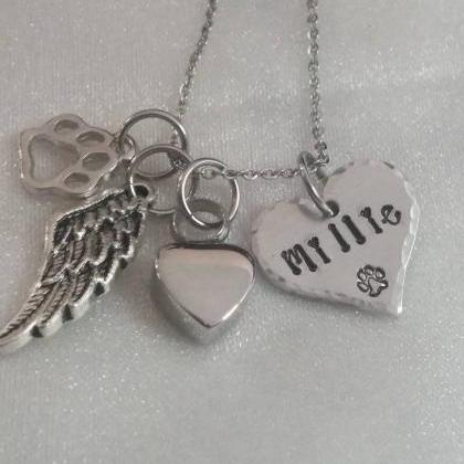 Pet Memorial Hand Stamped Necklace ..