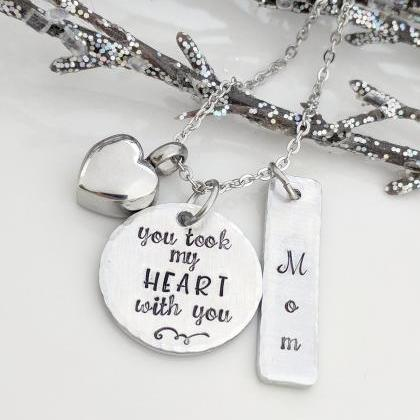 Hand Stamped Necklace You Took My H..