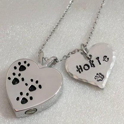 Hand Stamped NecklacePet Loss Gift ..