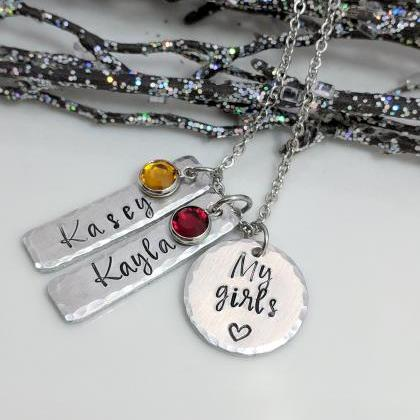 My Girls Necklace- Gift for Mom- To..
