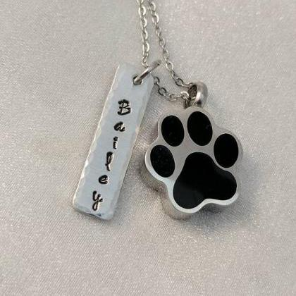 Hand Stamped Necklace Pet Loss Memo..