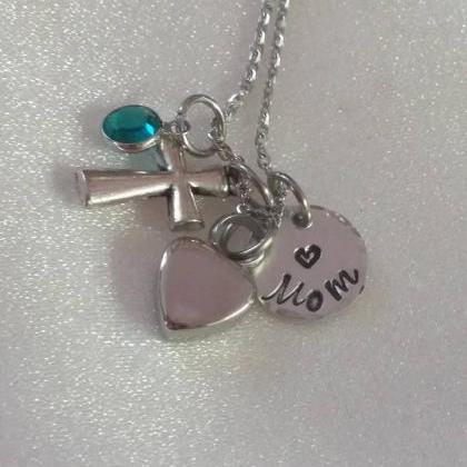 Urn Hand Stamped Necklace - Cremati..