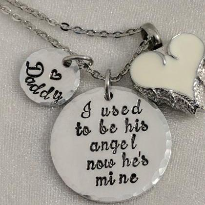 I Used To Be Her Angel-Urn Necklace..