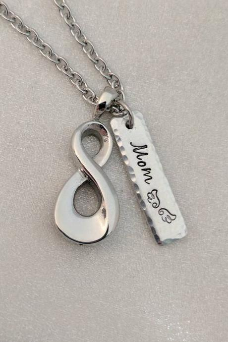 Infinity Urn Hand Stamped Necklace - Personalized Urn Hand Stamped Jewelry - Sympathy Gift - Ash Holder Necklace - Cremation Jewelry - Urn for Ashes - Loss Keepsake